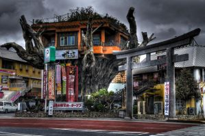 Gajumaru - restaurant on a tree by skyblue-13