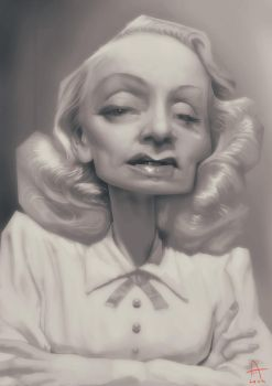 Marlene Dietrich Caricature by Nico4blood