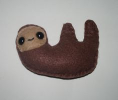 Happy Sloth Plushie by kiddomerriweather