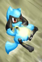 Riolu using Focus Blast by Rioteru