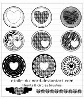 hearts and circles brushes by Etoile-du-nord