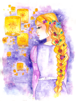 Disney Princesses: Rapunzel by utenaxchan
