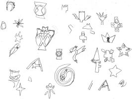 Symbols Sketches 1 by OceanPictures61