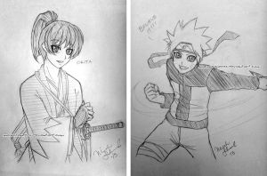 commission. all-con 2013 sketches by maioceaneyes