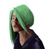 Green haired girl by ThonyVezbe