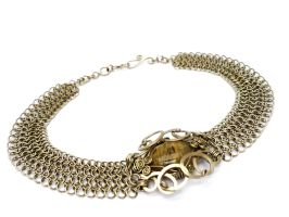 Wire Wrap Chainmaille Choker by hyppiechic