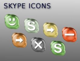 Skype Icons by Potzblitz7