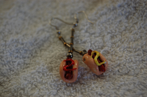 Hot Dog Earrings by Jiel