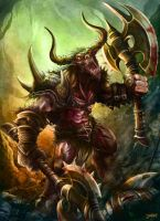 Wrath of the Minotaur by loztvampir3