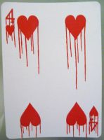 Four of Hearts - Bleeding Love by CardCemetary