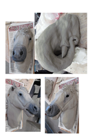 Wall Sculpts- Horse and Elephant WIP by reviro