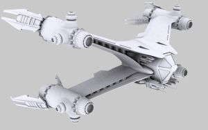 Babylon 5 Starfury - WIP 5 by Foxer