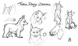 Fahin - first sketches by LhuneArt