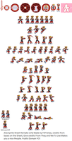 sprites alia x8 in 32-bit (preview) by kensuyjin33