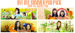 Bye Bye Summer PSD Pack by Know-chan