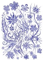 Blue flowers 19 by Dessins-Fantastiques