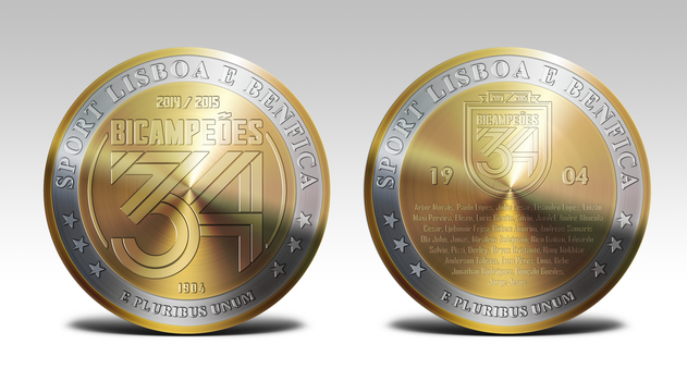 Benfica 34th Championship Coin by MrMAU
