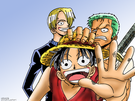 Luffy-Zoro-Sanji coloring by AnnaHiwatari