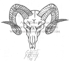 Metal-Head Ram Skull Tattoo by Dark-Firefox