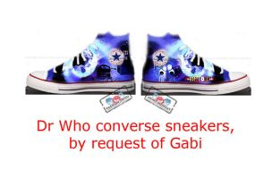 Dr Who sneakers by Cartoon-punk