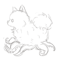 Tentadog Sketch by Blesses