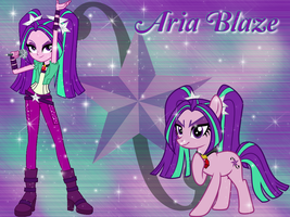 Aria Blaze and Pony Wallpaper by NatouMJSonic