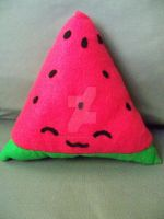 Watermelon Slice Plush by moonphiredesign