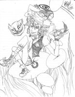 Me as Mad Hatter -lineart- by ocmaker101