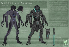 Aergerian Alien Species Concept by MoonstalkerWerewolf