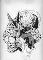 Vegeta vs. Cell by PiletX