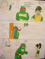TMNT and Toph by JesusFreak-4Ever