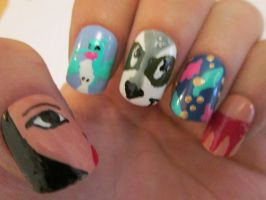 My Pocahontas nails by henzy89