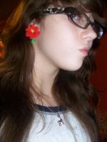 Hand made 00's Flower tapers by sinistertale