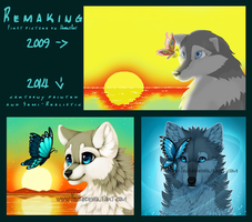 late 2009 vs early 2014 + Speedpaint by Yechii