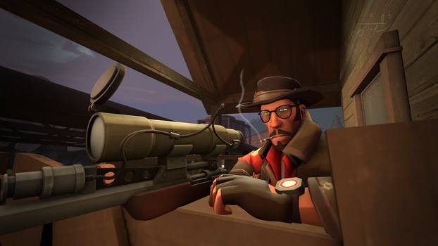 (SFM REQUEST) Lucky shot by CobaltDrawing