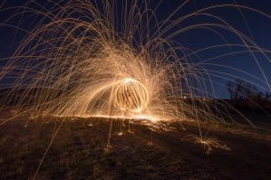 Something in the road (steel wool photography) by elijahvivio1996