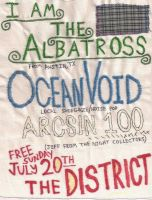 I Am The Albatross/Ocean Void/Arcsin 100 flyer by NickVoid1991