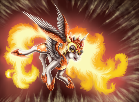 Daybreaker, Queen of the Sun  - MLP by Ellen124