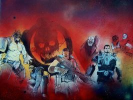 GOW3 Mural by DaoneDrawer