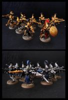 eldar army - dire avengers by thevampiredio