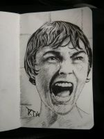 Psycho shower Janet Leigh as Marion Crane by P3laton3