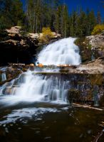 Provo River Falls - Lower Fall by miniwyo