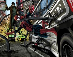 SpiderMan Vs Dr. Octopus 2 by JoeGrafix