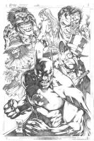 Batman vs Enemies by MARCIOABREU7