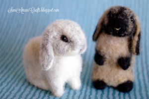 Needle felted bunnies for Alice by SaniAmaniCrafts