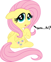 She's a Wee Bit Fluttershy by Firestorm-CAN