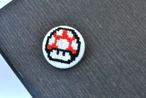 Mario Mushroom Cross Stitch by LittleSymmetry