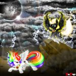 Comm: Rainbow Dash vs Lightning Dust - Stormfront by BroDogz