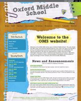 Oxford Middle School Website by JuneBerry