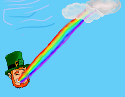 PC Leprechaun Eating A Rainbow by VivaFariy